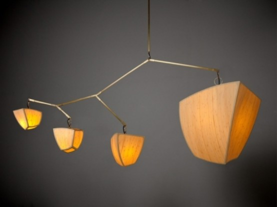 Lamps Of Bamboo Looking Like Chinese Lantern