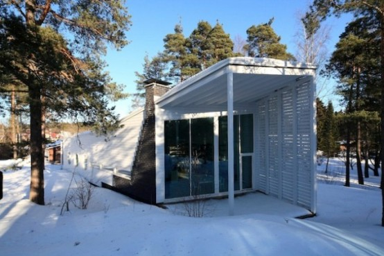 Land Harbored Boat Styled Finnish Home