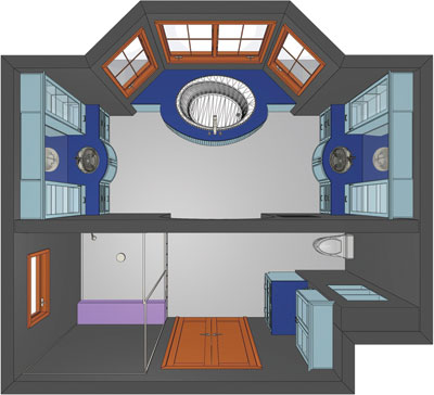 Floor plan of Large Bathrooms Second Place