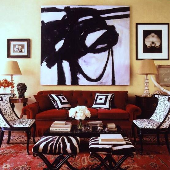 Trend Shake 40 Indigo Home Décor Ideas: The Latest Décor Trend: 31 Large Scale Wall Art Ideas