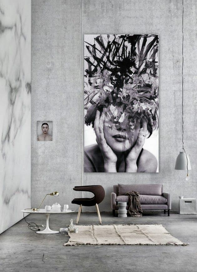 Wall Art Ideas For Large Wall the latest décor trend: 31 large scale wall art ideas - digsdigs