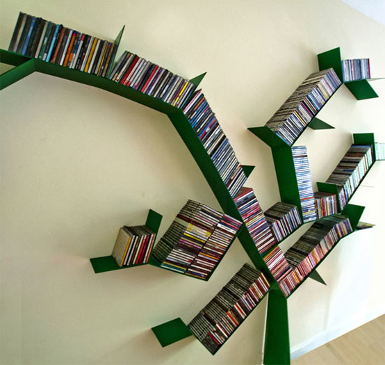 5 cool and creative tree like bookshelves digsdigs - Estanterias para cds ...
