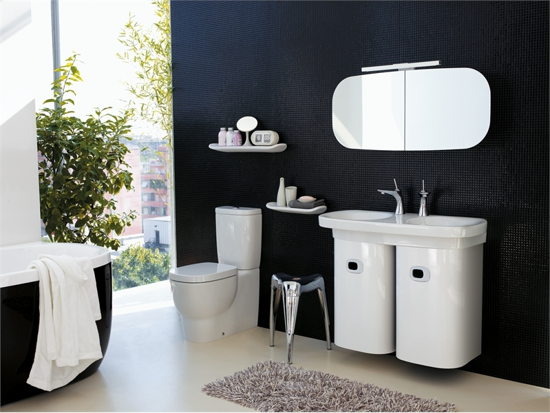 Stylish bathroom with mimo appliances from laufen digsdigs for Bathroom appliances