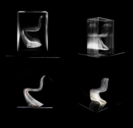 Lava Digital Panton Chair