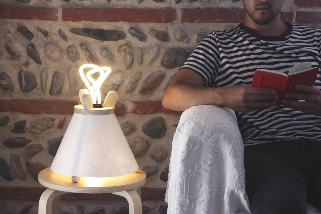 Lavu Lamp Inspired By Scandinavian Tribesmen Tents