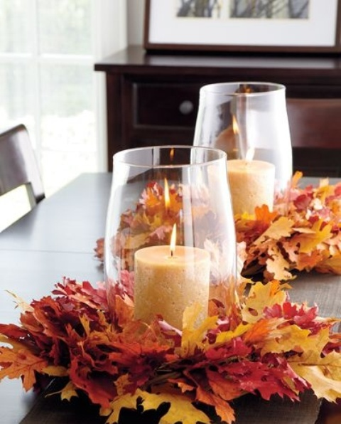 Leaf Centerpieces For Fall And Thanksgiving Decor