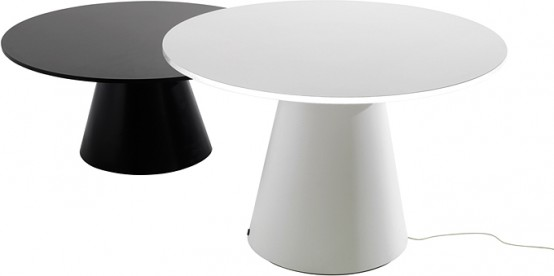 LED Coffee Table Set Of Two Units Of Different Height
