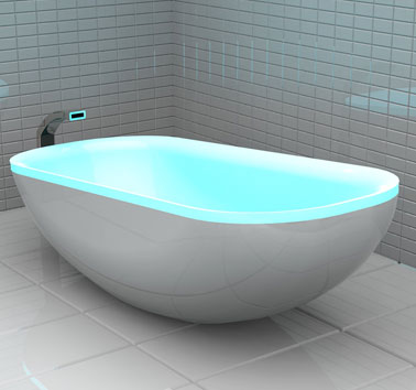 LED Glowing Bathtub To Create A Home Spa