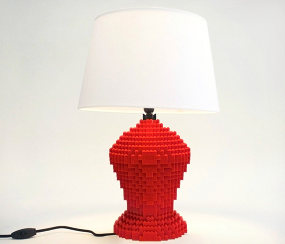 LEGO Table Lamp To Realize Children's Dreams | DigsDigs