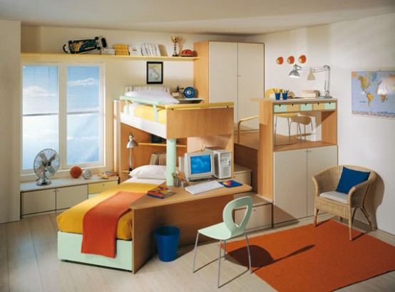 Bright kids room ideas from sangiorgio mobili digsdigs Best kids bedroom furniture
