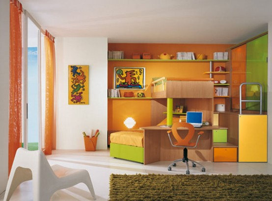 Bright kids room ideas from sangiorgio mobili digsdigs for Cool kids bedroom designs