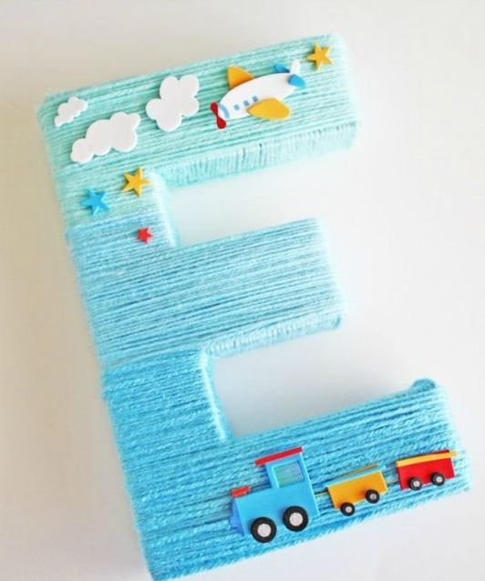 letter decoration  for a boy baby shower