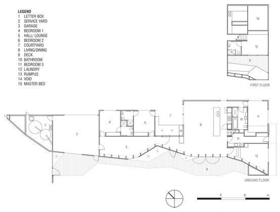 Experimental house design floor plan