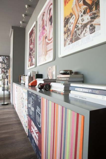Light Grey House Interior With Colorful Accents
