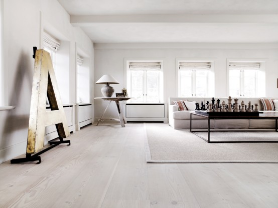 Light Minimalist House With Vintage Details In Denmark