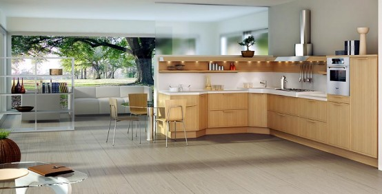 Forma light oak with Ekotek unit