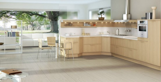 Light Oak Wooden Kitchen Designs