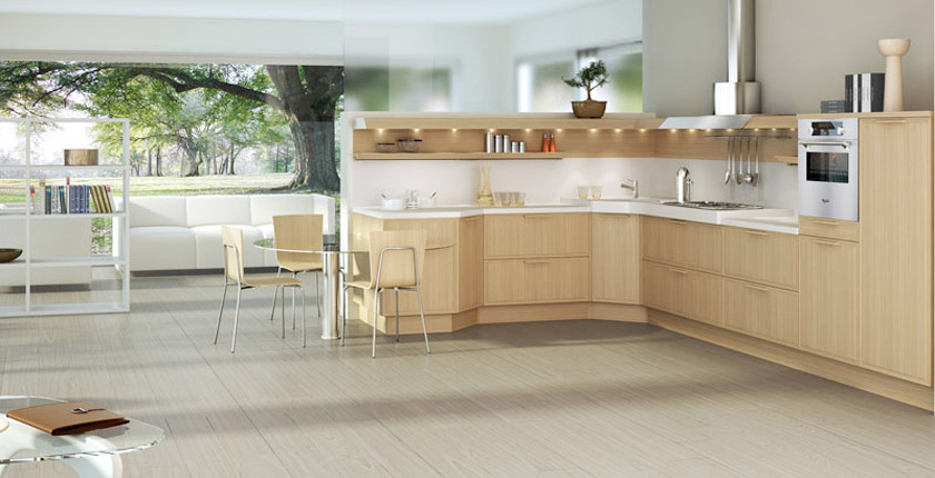 Http Www Digsdigs Com Light Oak Wooden Kitchen Designs