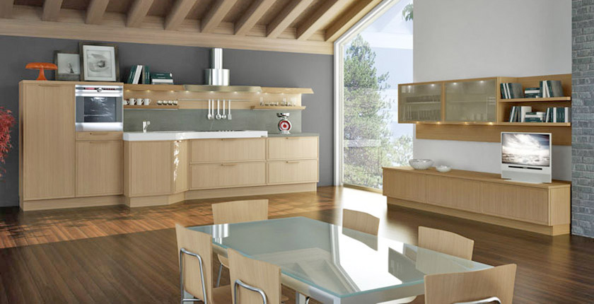 Light oak wooden kitchen designs digsdigs Kitchen design light grey