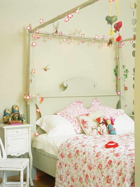Lighted Up Girl Bedroom