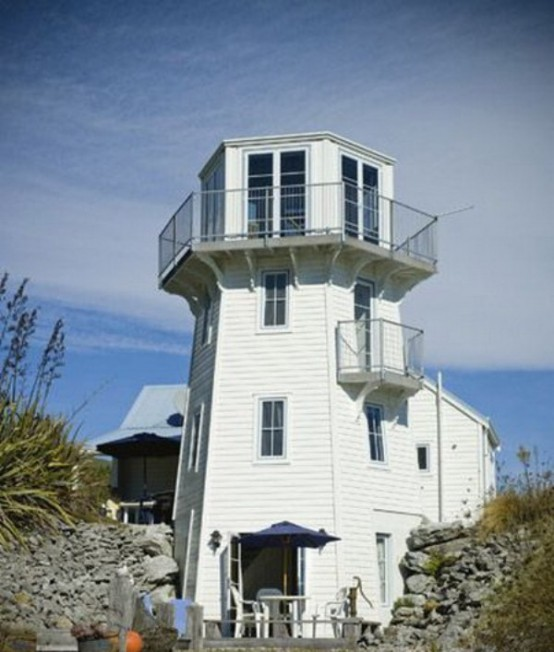 Lighthouse In Marine Style In New Zealand