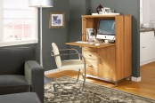 Linear Armoire With Desk