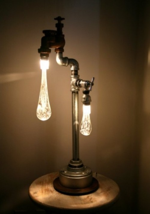 Lamps In Industrial And Retro Style Made Of Recycled