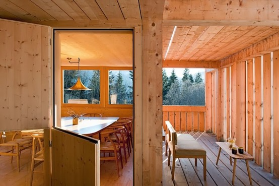 Little Swiss Chalet In Blond Honey Wood