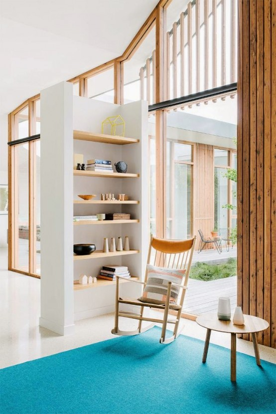 Lively  And Bright Australian Home With Mid Century Touches