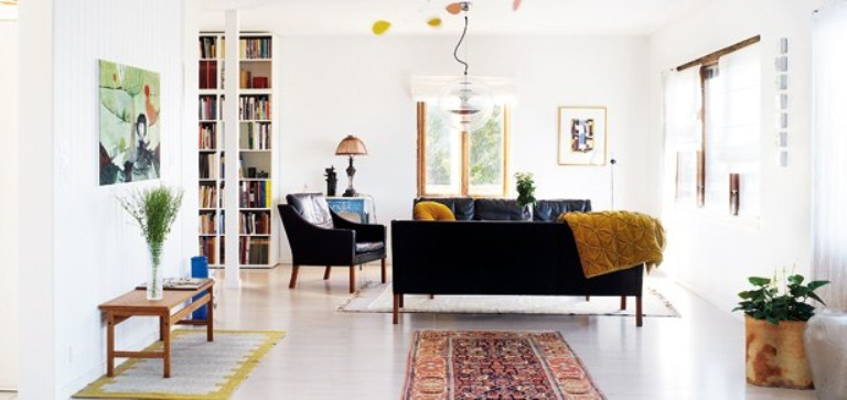 Lively And Light Interior Of House In Sweden