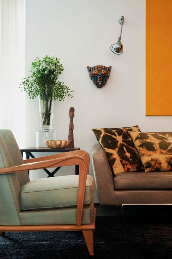 Lively Brazilian Apartment With Humorous Artwork And Vintage Pieces