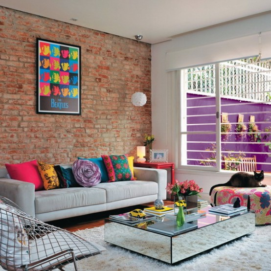 Lively Multicolored House Of A Brazilian Designer