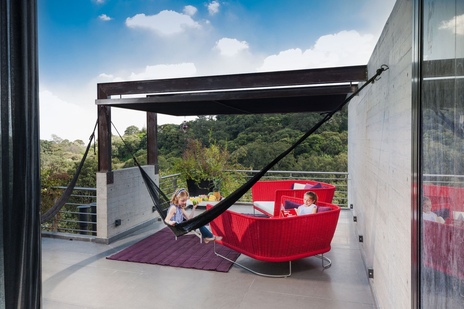 Picture Of living amidst the forest glazed tepozcuautla house  12