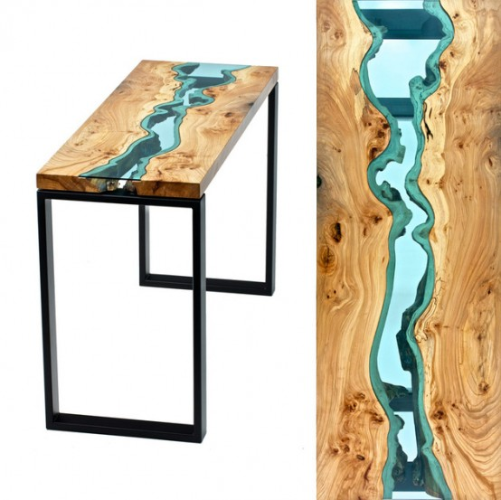 Living Edge Tables Welcoming Natural Imperfections