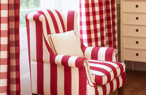 Living Room In Candy Stripes