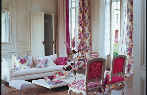 Living Room In Girly Colors