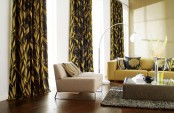 Living Room In  Mustards Browns And Taupes