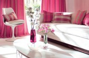 Living Room In Pink