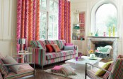 Living Room In Three Color Stripes
