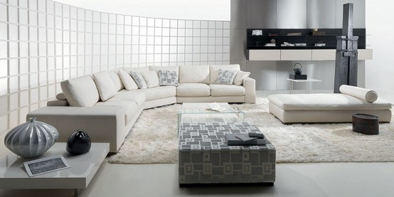living room natuzzi domino