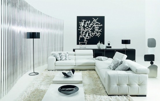 Themes White Minimalist Interior Design For Living Room