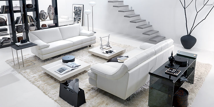 black and white decor, Italian design, Italy, living room