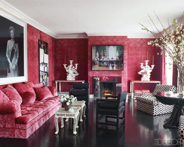 Living Room Upholstered In A Velvet