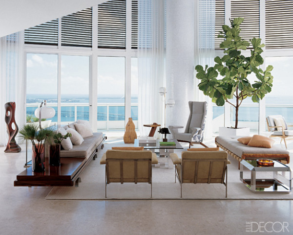Living Room With A View In A Miami Duplex