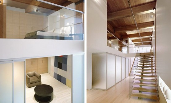 Loft Design With A Cool Staircase