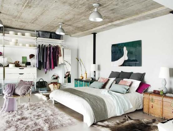 Loft-Like Bedroom