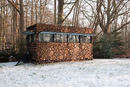 Log House as Garden Home Office Cabin