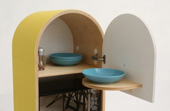 Lolo Microkitchen With Independent Colorful Modules