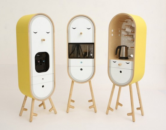 LO-LO Microkitchen With Independent Colorful Modules