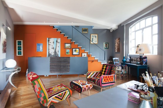 London House In Crazy Mix Of Colors, Patterns And Styles